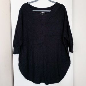 Express Black Circle Hem Sweater
